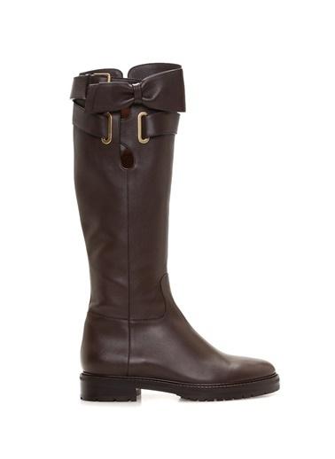 %100 Deri Çizme-Valentino